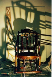 Projecting the shadow in shadow paintings with photo emulsion