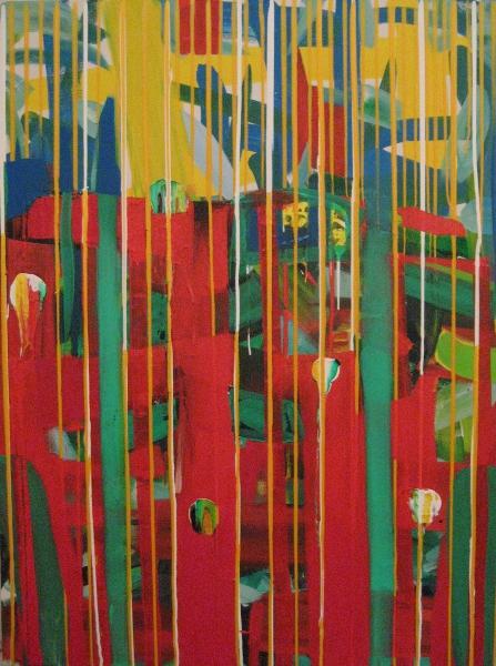 a patchouli town, lascaux acrylics, 2008