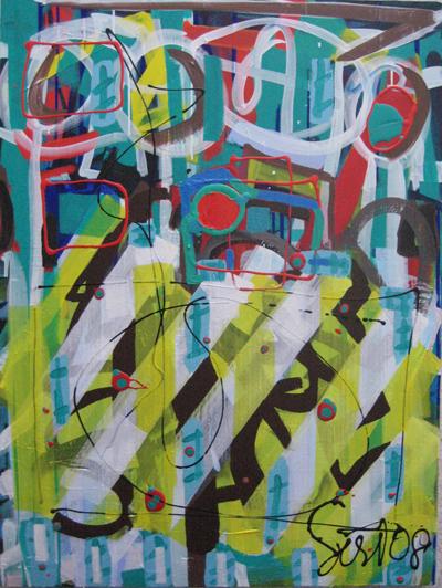kalichakra 3, lascaux acrylics, 2008
