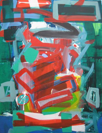 kalichakra 5, lascaux acrylics, 2008