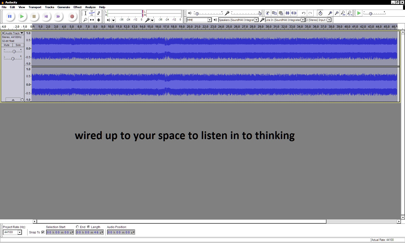 recording linking up to space 24 feb 2016