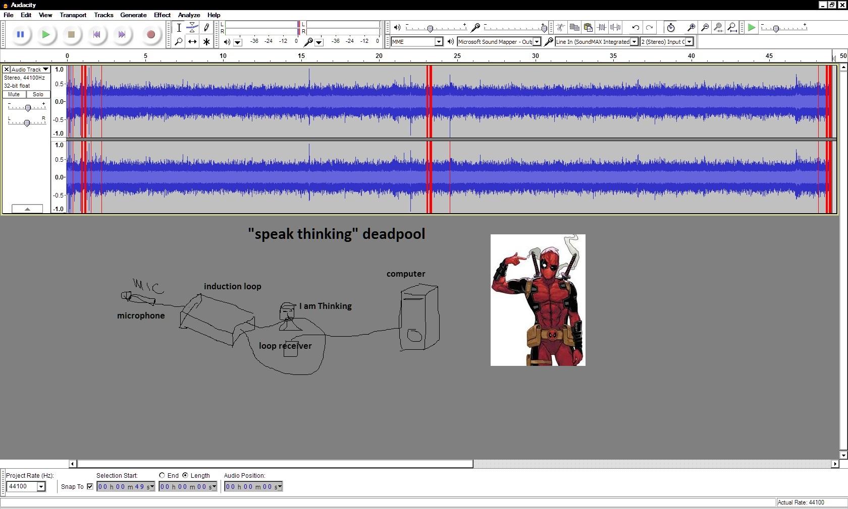recording speak thinking deadpool