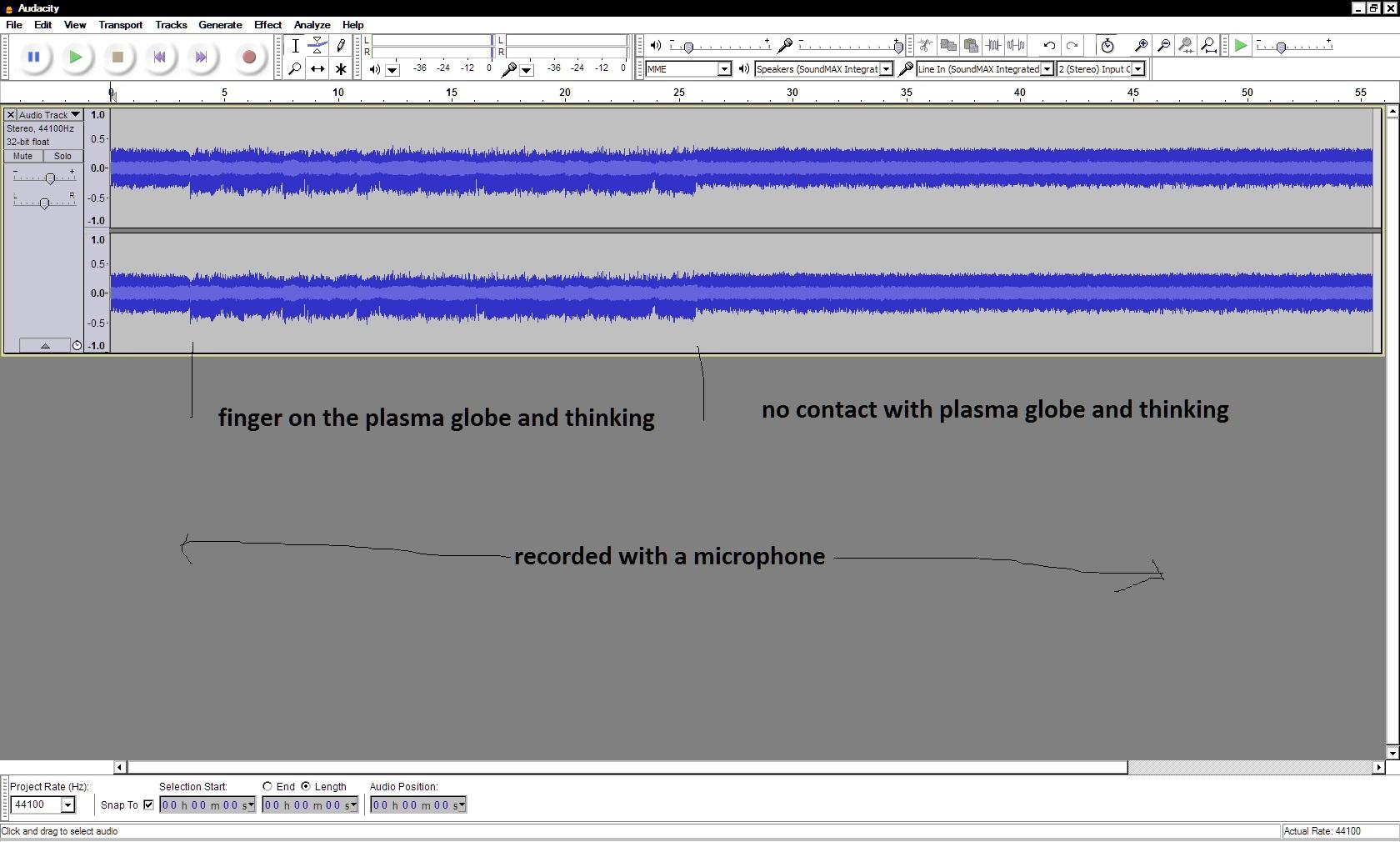 recording plasma globe thinking mic 14 march 2016