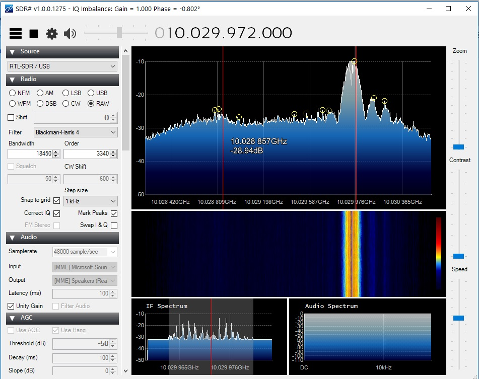 recording full image for book 10 Ghz microwave talk back signal that disappears when you monitor it